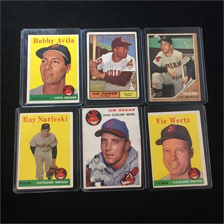 Lot of 6 Vintage Baseball Cards