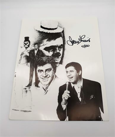 Jerry Lewis Signed 5/100 8x10 Photo