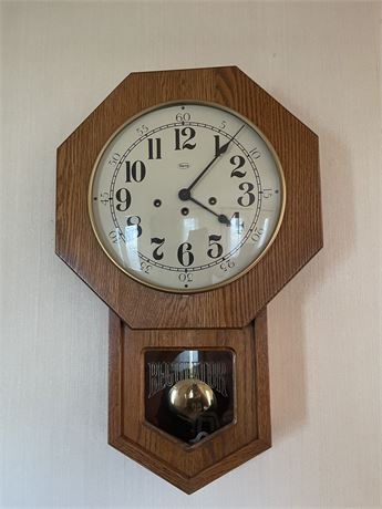 Vintage Ridgeway Regulator Clock - Nice