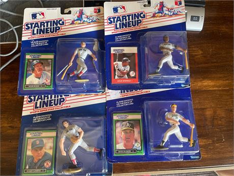Starting Line up McGwire, WInfield, Boggs, Clemens  4 NIB Bundle