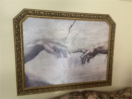 "Michelangelo Buonarroti ""The Hands of God and Man"" print"
