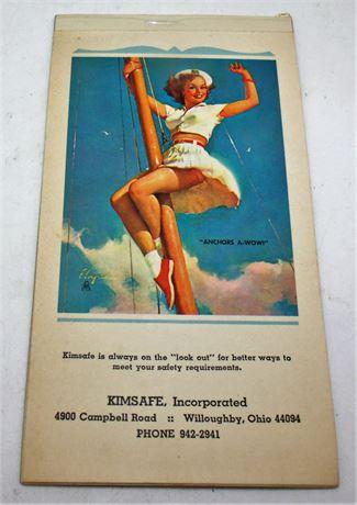 1969 Pin Up Girl calendar booklet