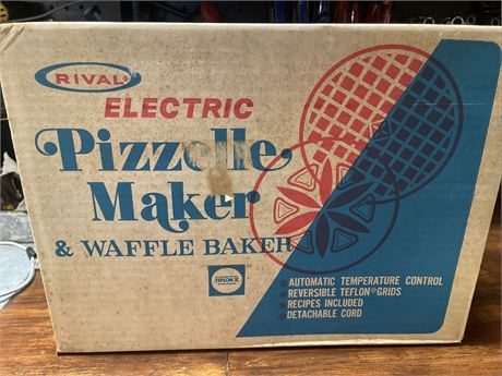 Rival Electric Pizzelle Maker and Waffle Baker - Model 95
