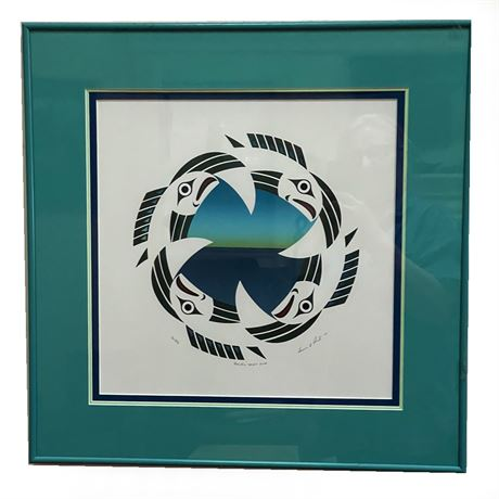 """Susan A Point Signed """"Pacific Spirit 2002"""", Numbered Lithograph"""