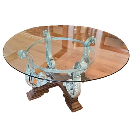 Contemporary Glass Top Cocktail Table