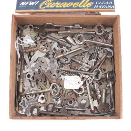 Assorted Antique and Vintage Key Collection