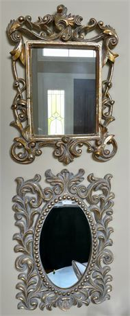 Pair of Decorative Accent Wall Mirrors