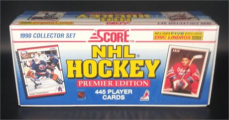 SCORE 1990 NHL HOCKEY FACTORY SEALED SET 445 CARDS ERIC LINDROS MARTIN BRODEUR