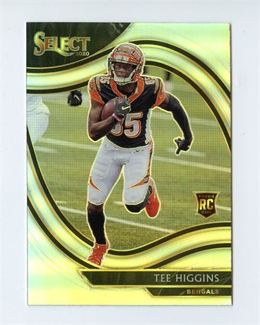 TEE HIGGINS RC 2020 SELECT SILVER PRIZM REFRACTOR FIELD LEVEL #360 BENGALS HOT