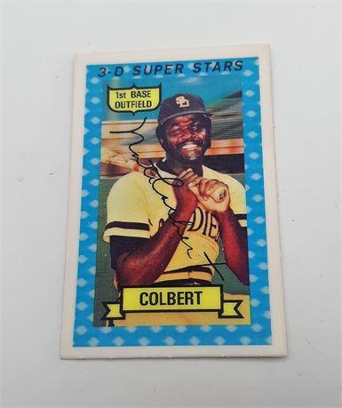 Nathan Colbert Jr. San Diego Padres 3D Super Star Signed Baseball Card