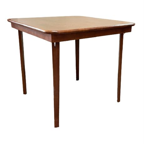 Stakmore Straight Edge Folding Card Table in Fruitwood
