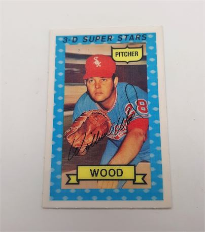 Wilbur Wood Jr. Chicago White Sox #34 3D Super Star Signed Baseball Card
