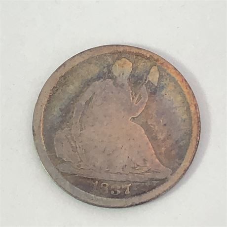 1837 Seated Liberty Half Dime Coin - First Year