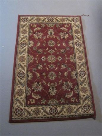 """31""""x48"""" Red Oriental area rug"""