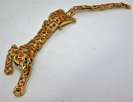 """7 1/2"""" Leopard brooch pin articulated"""