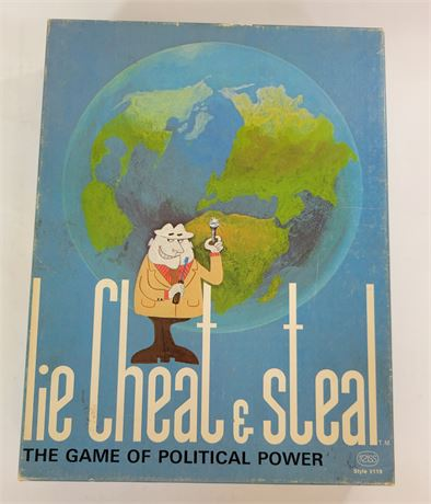 Vintage Lie Cheat & Steal  The Game of Political Power