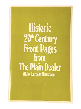 Historic 20th Century Front Pages from the Plain Dealer