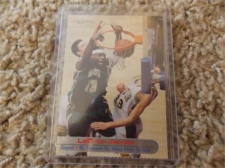2003 Sports Illustrated Kids Lebron James rookie card