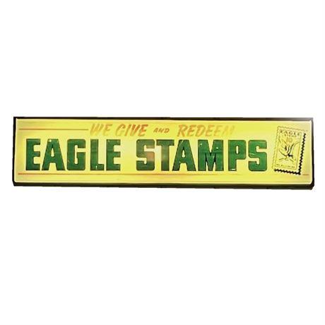 Vintage Eagle Stamps Advertising Light-Up Sign