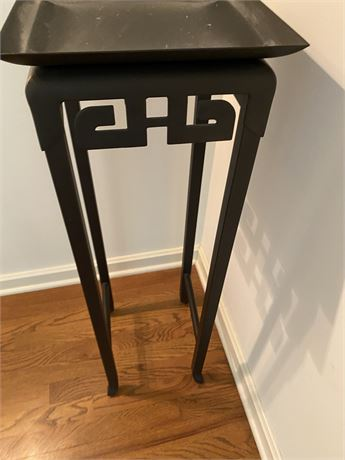 Contemporary Asian Metal Plant Stand