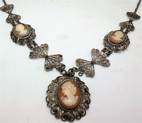 Sterling Cameo necklace