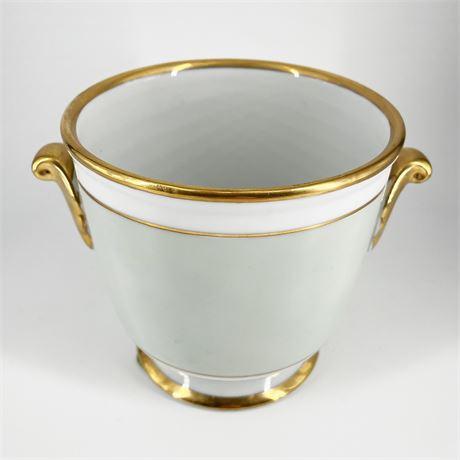 Fine Porcelain Gold Banded Planter