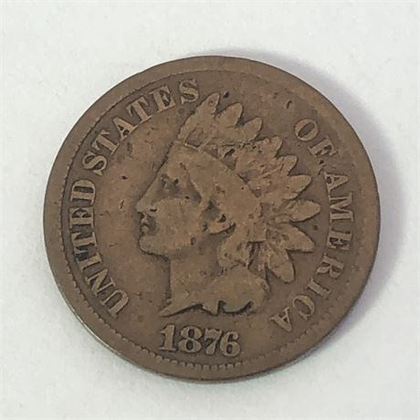 Key Date 1876 Indian Head Cent Coin