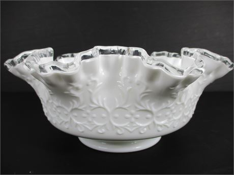Fenton Silver Crest Spanish Lace Ruffled Bowl