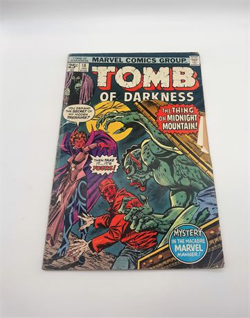 "Marvel Comics ""TOMB OF DARKNESS"" #18 Comic"