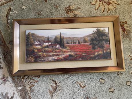 Raised double framed secluded art work