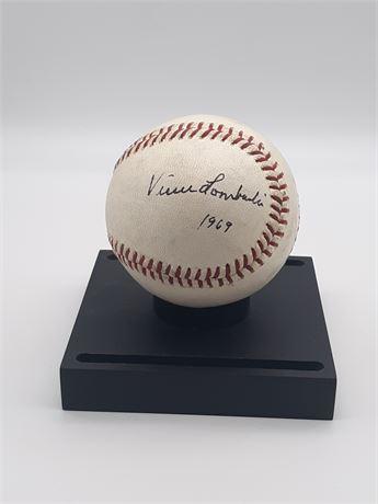 1969 Vince Lombardi American Football Coach Signed Baseball