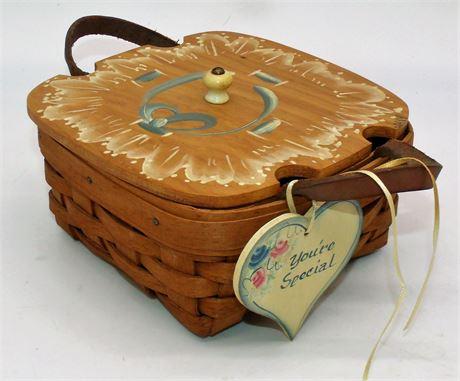 Longaberger Basket with Lid
