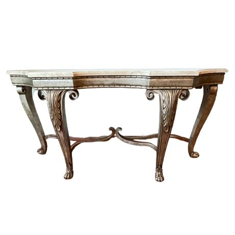 Italian Marble Top Console Table
