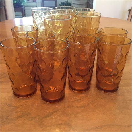 Vintage 1970's Gold Glassware
