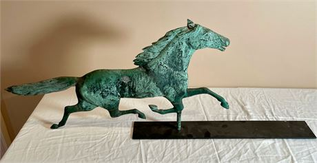 Vintage Horse Weathervane on Stand