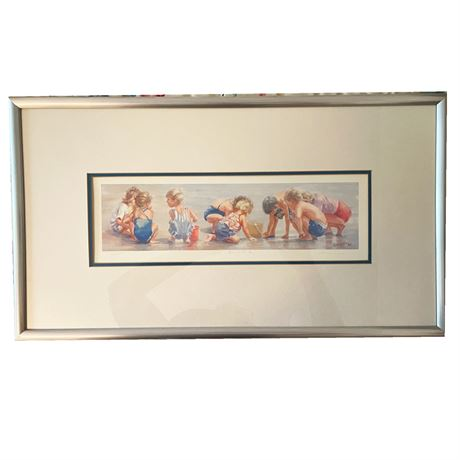 """""""Beach Party"""" By Lucelle Raad Offset Lithograph"""
