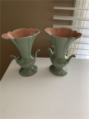 Red Wing Pottery Vase Lot
