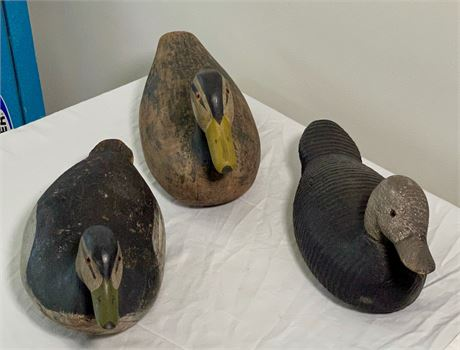 Group of Vintage Painted Wood Duck Decoys