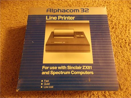 Vintage 1983 Alphacom 32 Line Printer, new in box