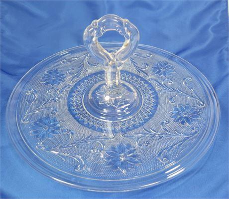 Indiana Sandwich Glass Center Handle Platter
