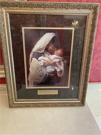 """""""Kissing the Face of God"""" by Morgan Weistling Print-Framed"""
