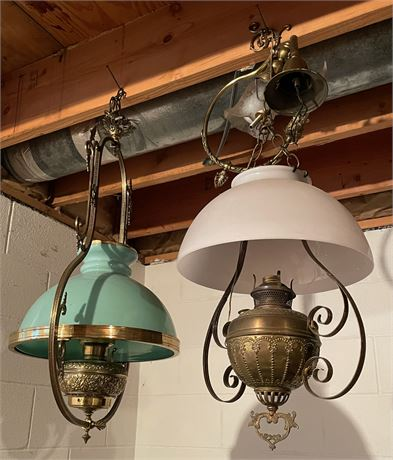 2 Hanging Oil Lamps