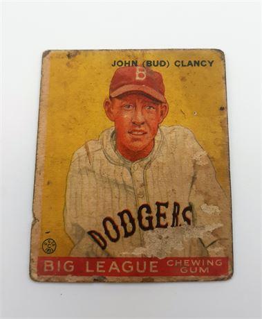 1933 Goudey John Clancy Brooklyn Dodgers #32 Baseball Card