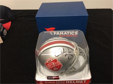 Ohio State Riddell 2014 National Champs Mini Helmet - Signed
