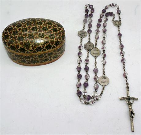 Rosary Italy & wood box