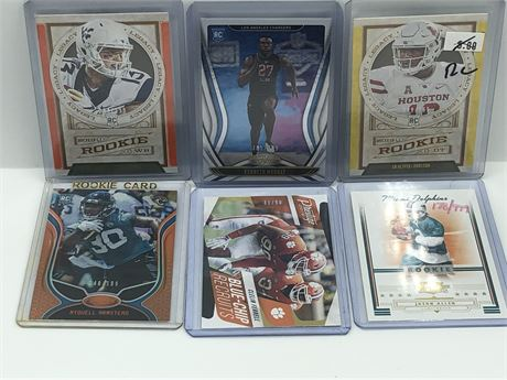 Limited Edition Rookie Football Card Lot