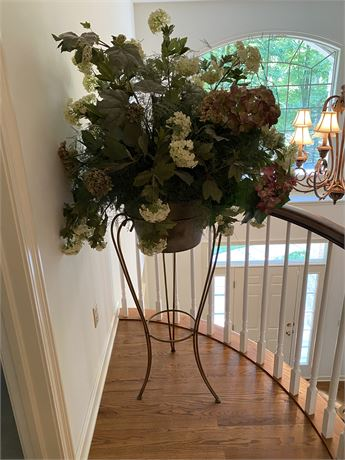 Contemporary Floral Arrangement in Pot on Stand