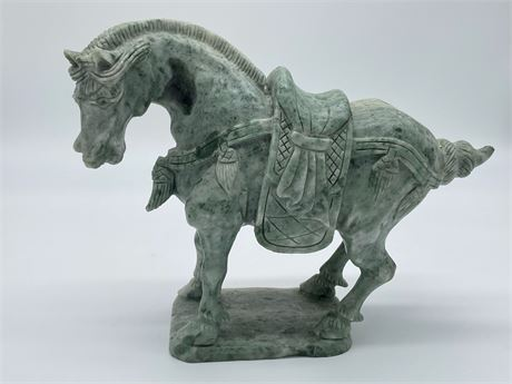 Hardstone Chinese Style Tang Horse Sculpture