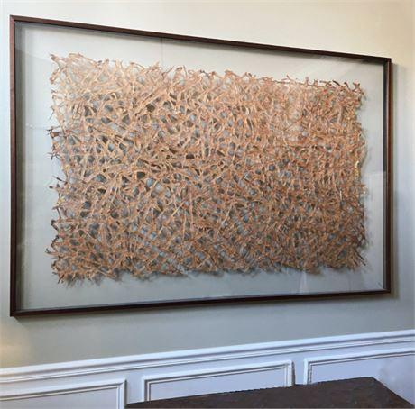 Decorator Dimensional Framed Paper  Art