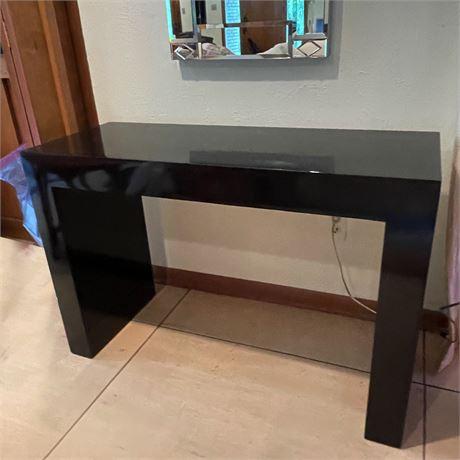 Black Gloss Laminate Console Table